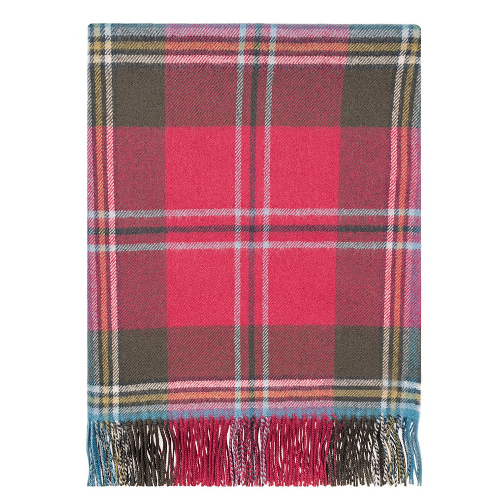 Lambswool Tartan Blanket MacLean of Duart Weathered
